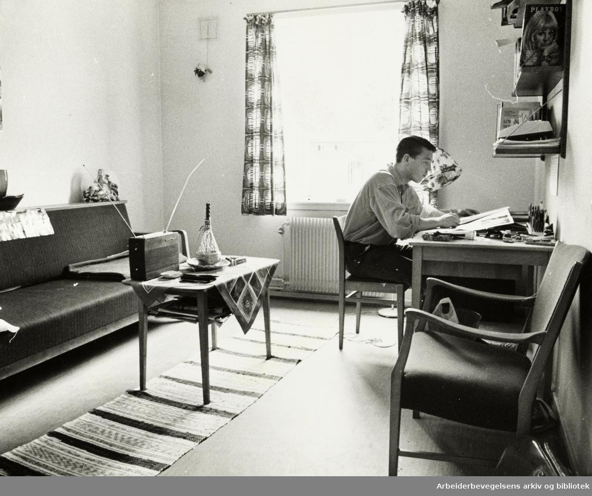 Kringsjå Studenthjem. September 1968