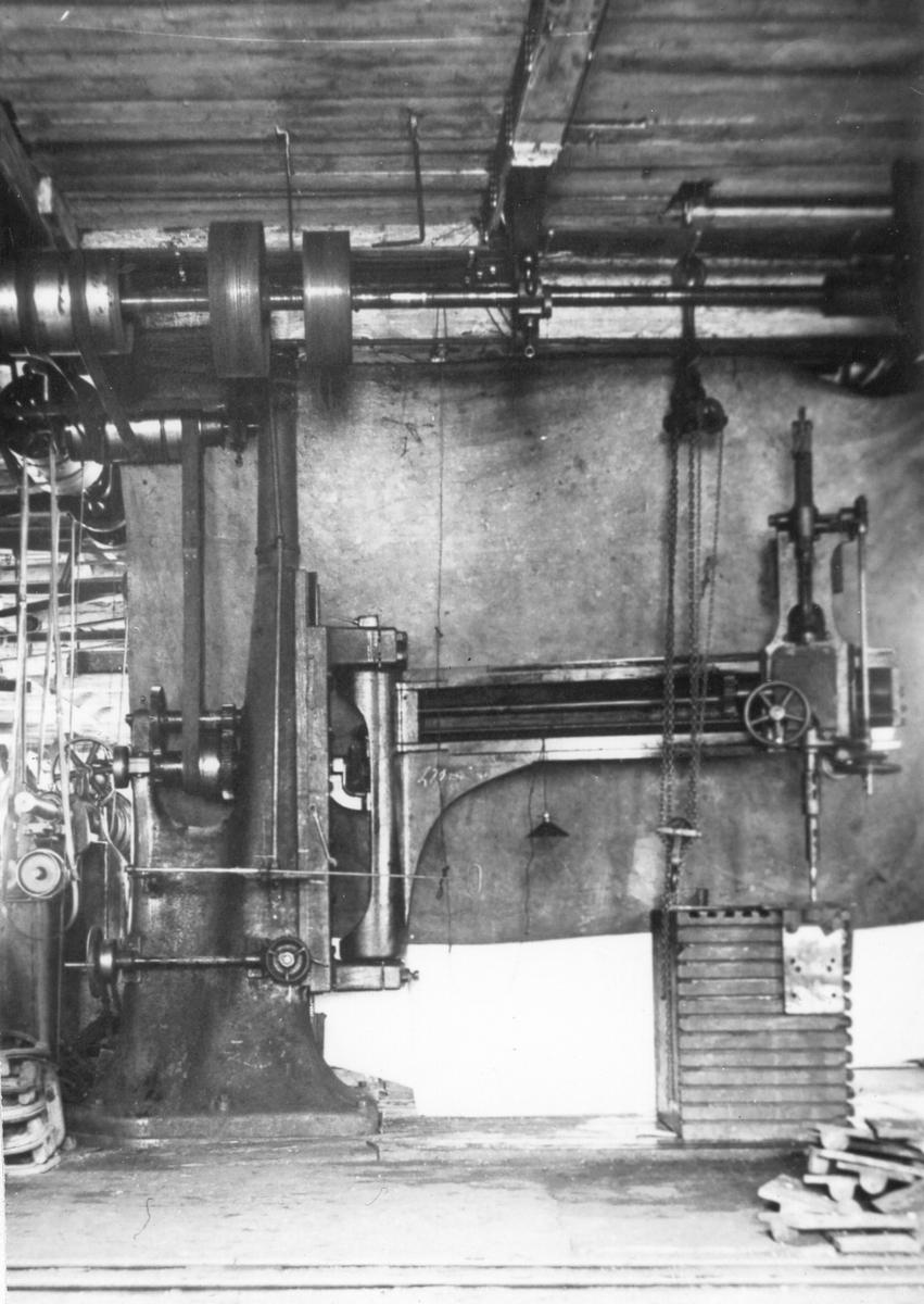Maskinrum på fartyg vid Gävle Varv.