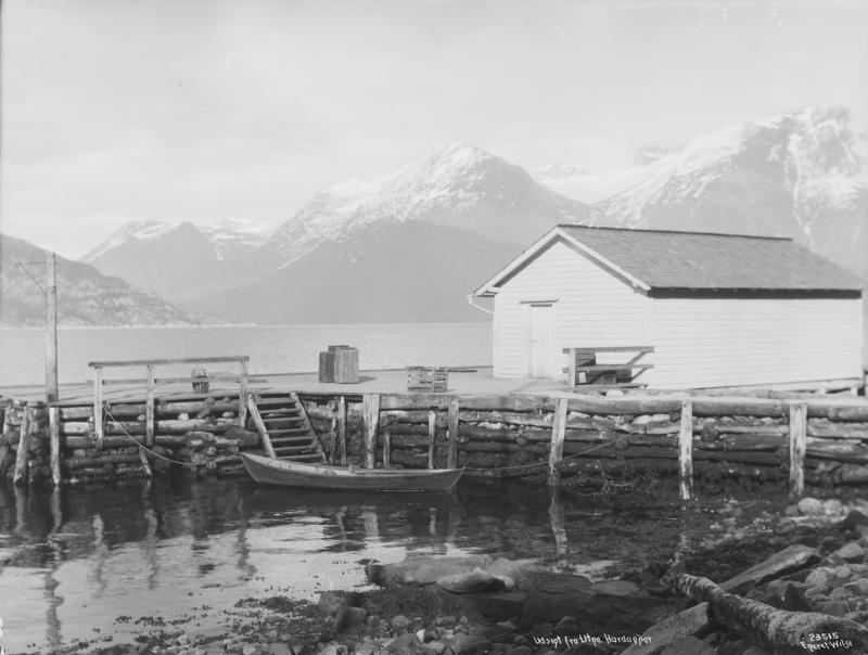Bolverksbrygge i Utne i Hardanger, 1923.