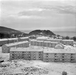 Blokkbebyggelse på Nyborg med Sverresborg Trøndelag Folkemus