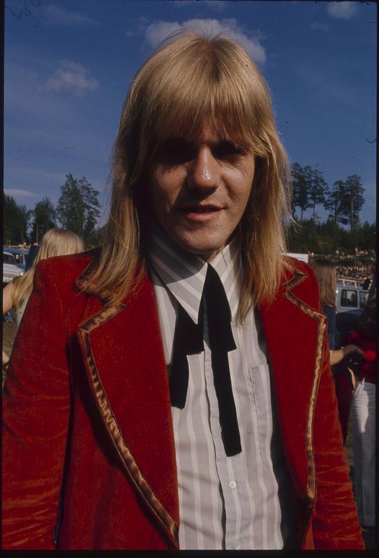 Janne Løseth. Fra Ragnarock i 1974. Foto: Svein Boye Andersen.