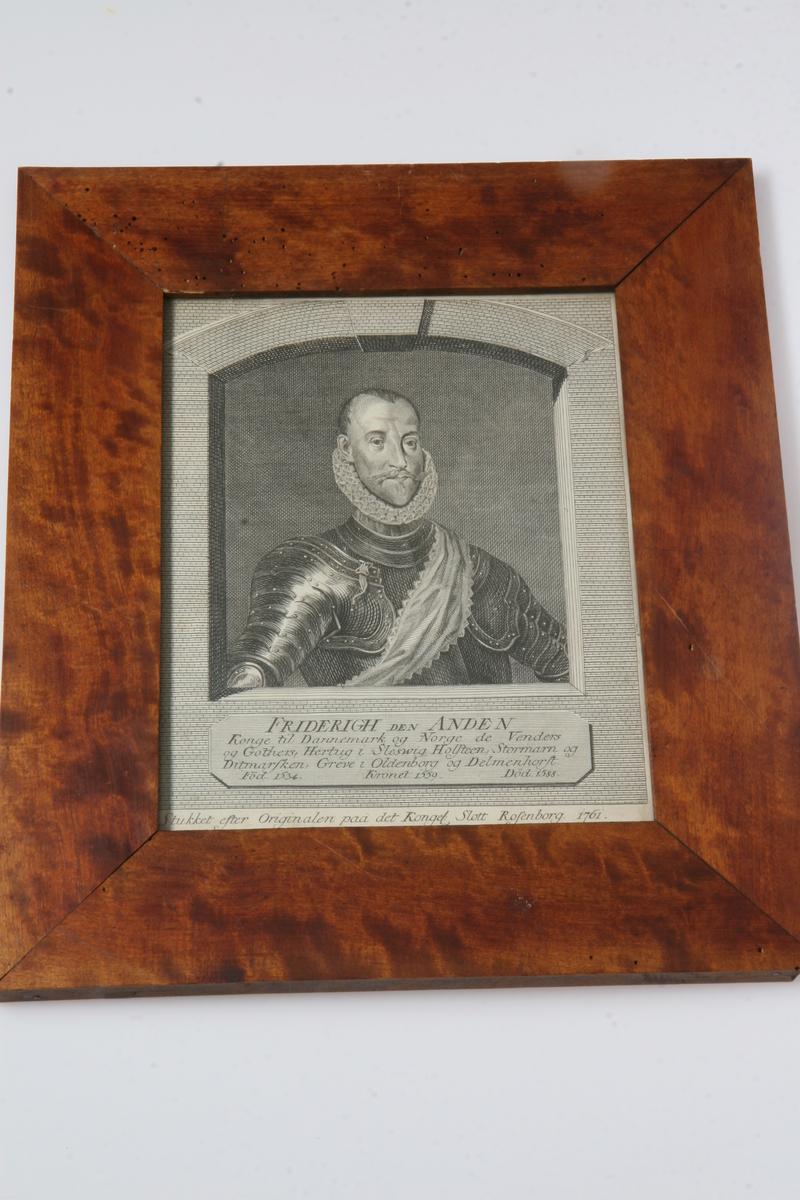 Kobberstikk av Fredrik II.