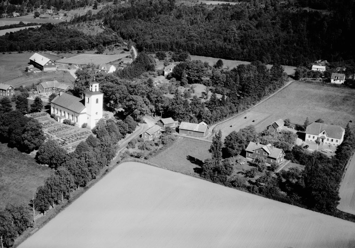 Flygfoto över Skärstads kyrka i Jönköpings kommun. Nr: 283/1959