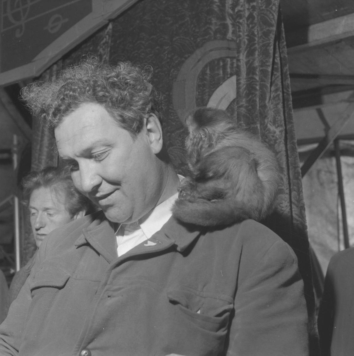 Sirkusdirektør Arnardo med apen Ko-Ko