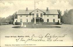 Vykort med motiv över Matfors herrgård före ombyggnaden 1912