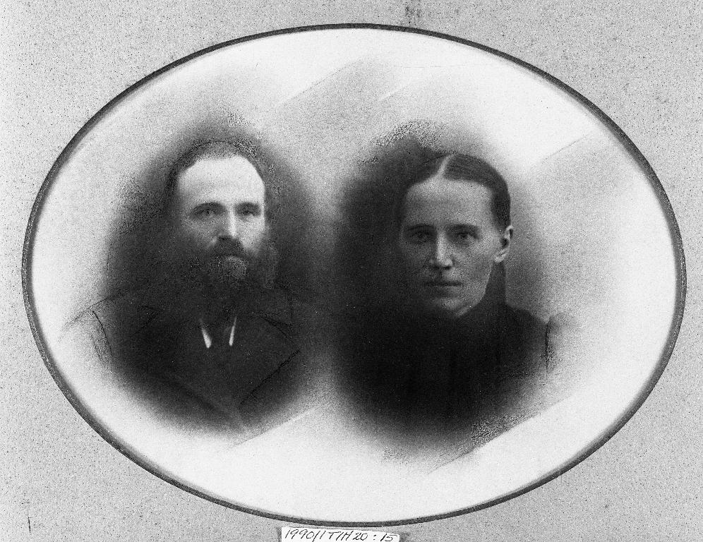 Carl Holen (28.9.1855 - 21.11.1937) og kona Jorina Halvarsdtr. Serigstad (24.2.1861 - 11.9.1905)