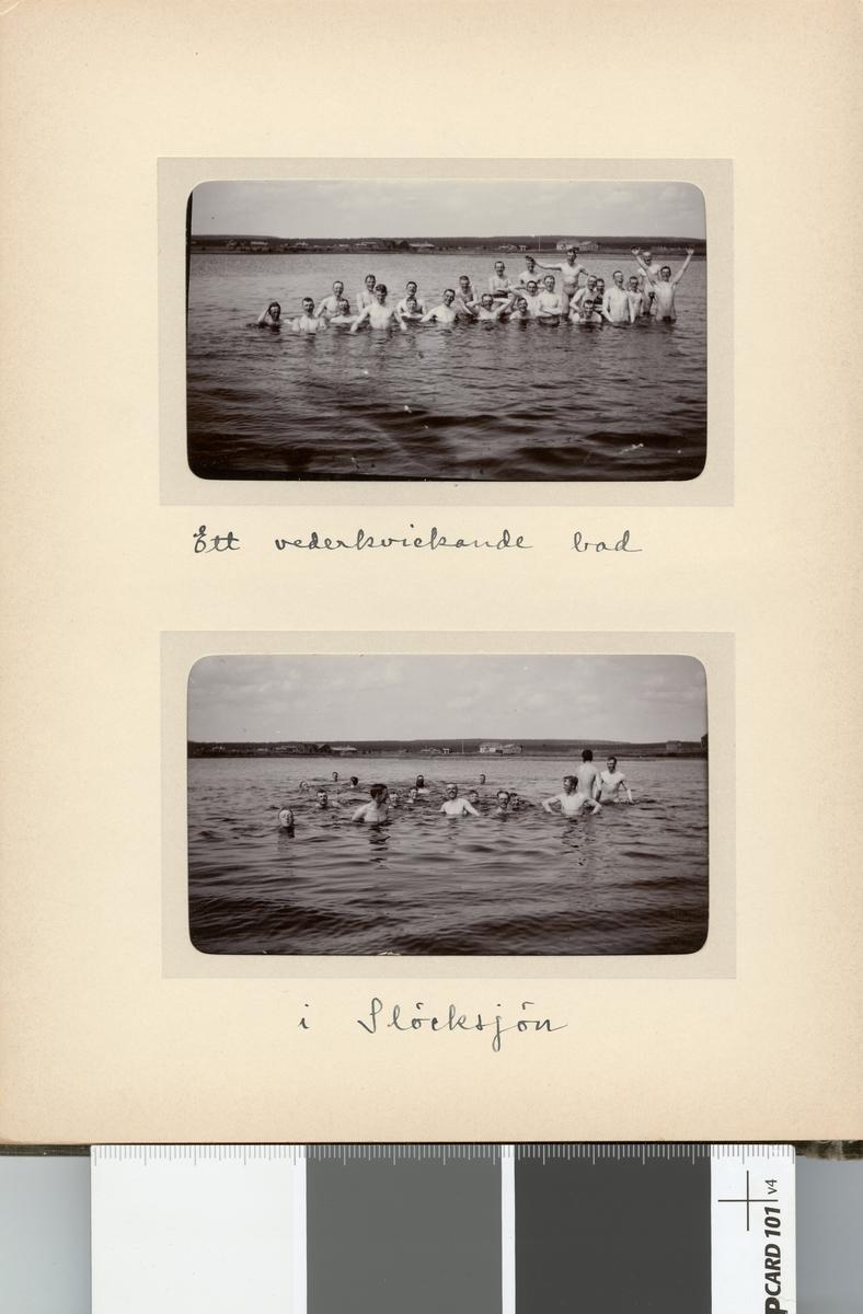 Kavalleriskolan tar ett vederkvickande bad vid Stöckesjön.