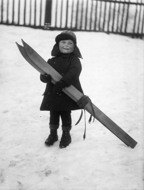 Gutt  med ski, Anders Beer Wilse, Norsk Folkemuseum (Foto/Photo)