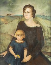 Min hustru och dotter [Oljemålning]