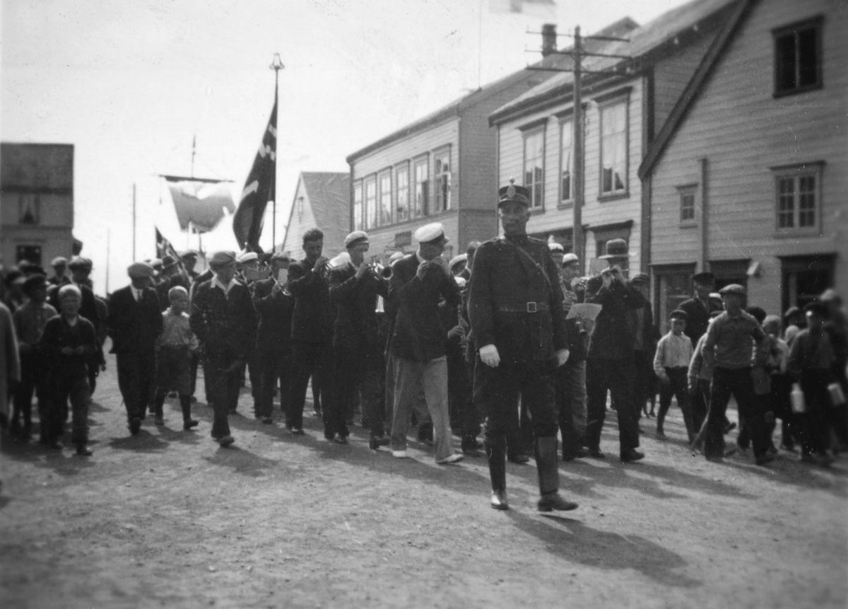 17.mai feiring i Vadsø i mellomkrigsårene.