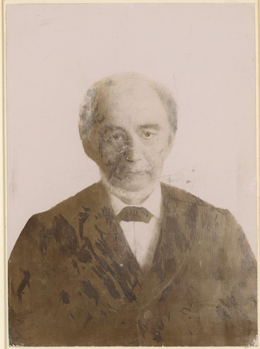 Carsten Smith (1812-93), kjøpmann i Moss.  Bilde 1: fotograf K. Bratli. Bilde 2: tegning av Trygve M. Davidsen.