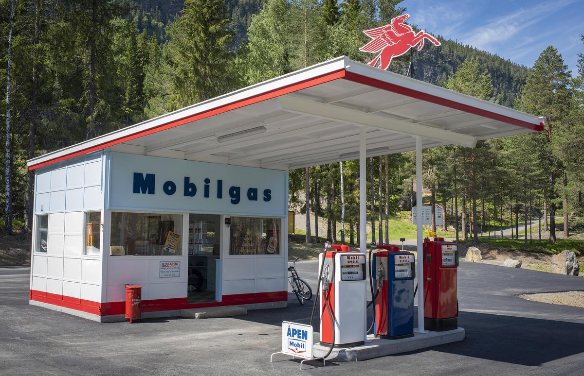 Mobilgas-stasjon på Norsk vegmuseum. Foto: Morten Reiten (Foto/Photo)