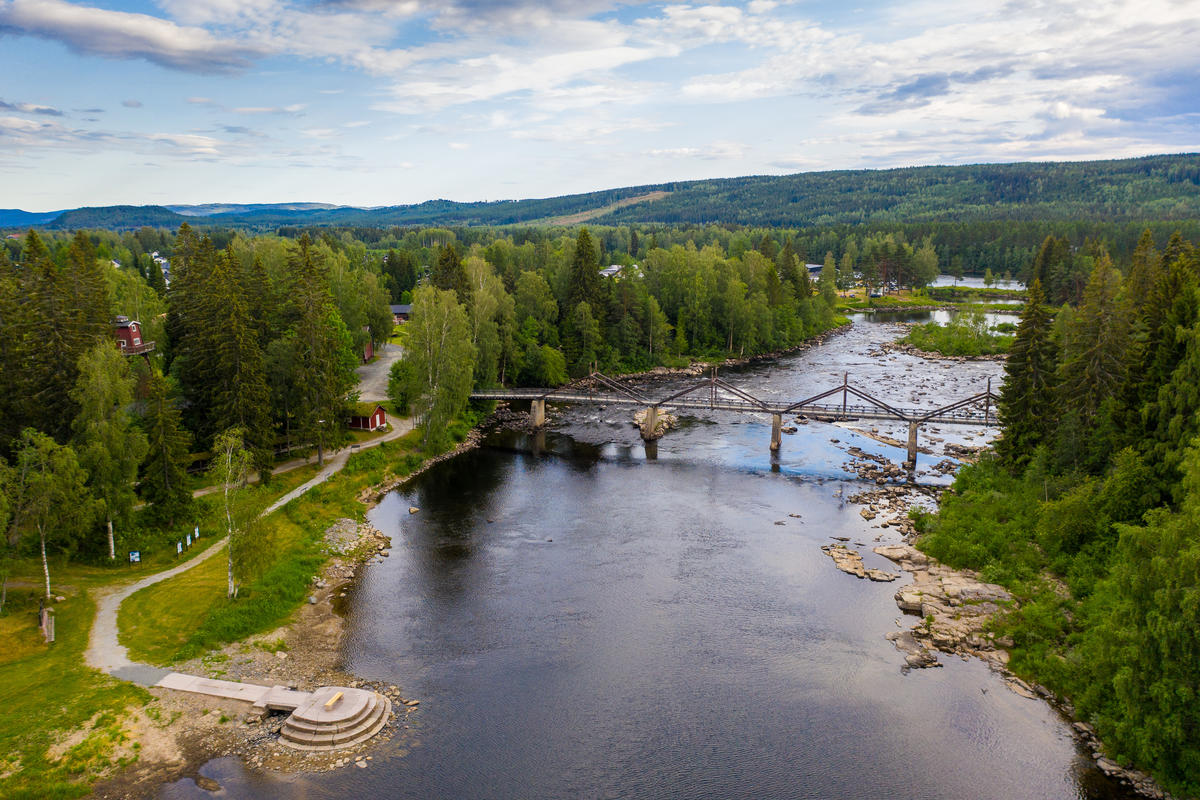 Drone bilde fra friluftsmuseet. (Foto/Photo)