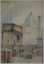 Från Italien [Akvarellmålning]