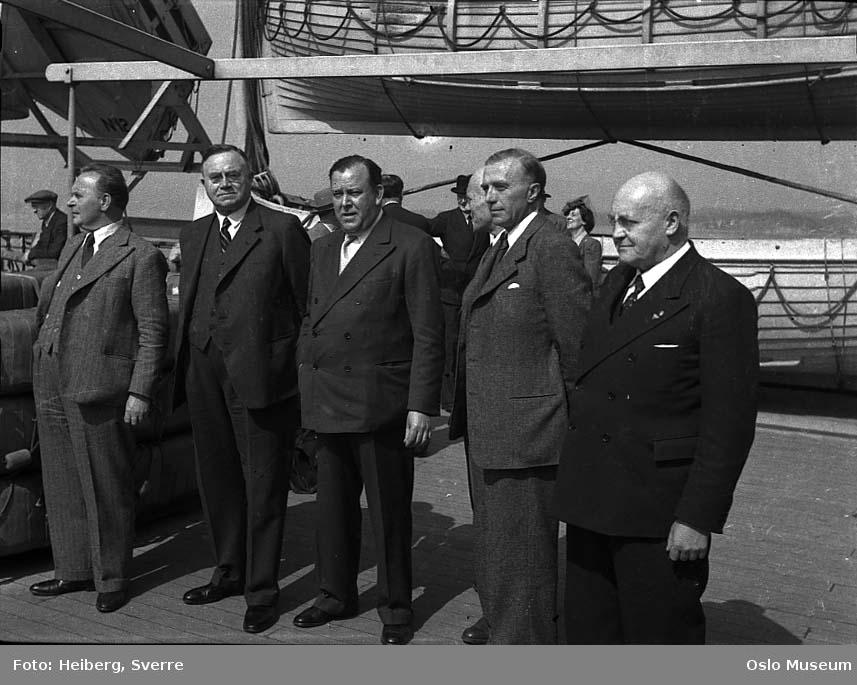 skipsdekk, menn, regjeringens hjemkomst, livbåter