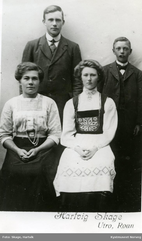Olga Aunet, Oskar Mulstad, Embjørg Aunet og Aksel Mulstad