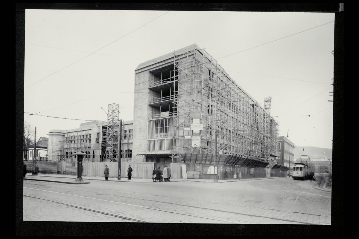 eksteriør, postkontor, 5002 Bergen, nybygg, under oppføring