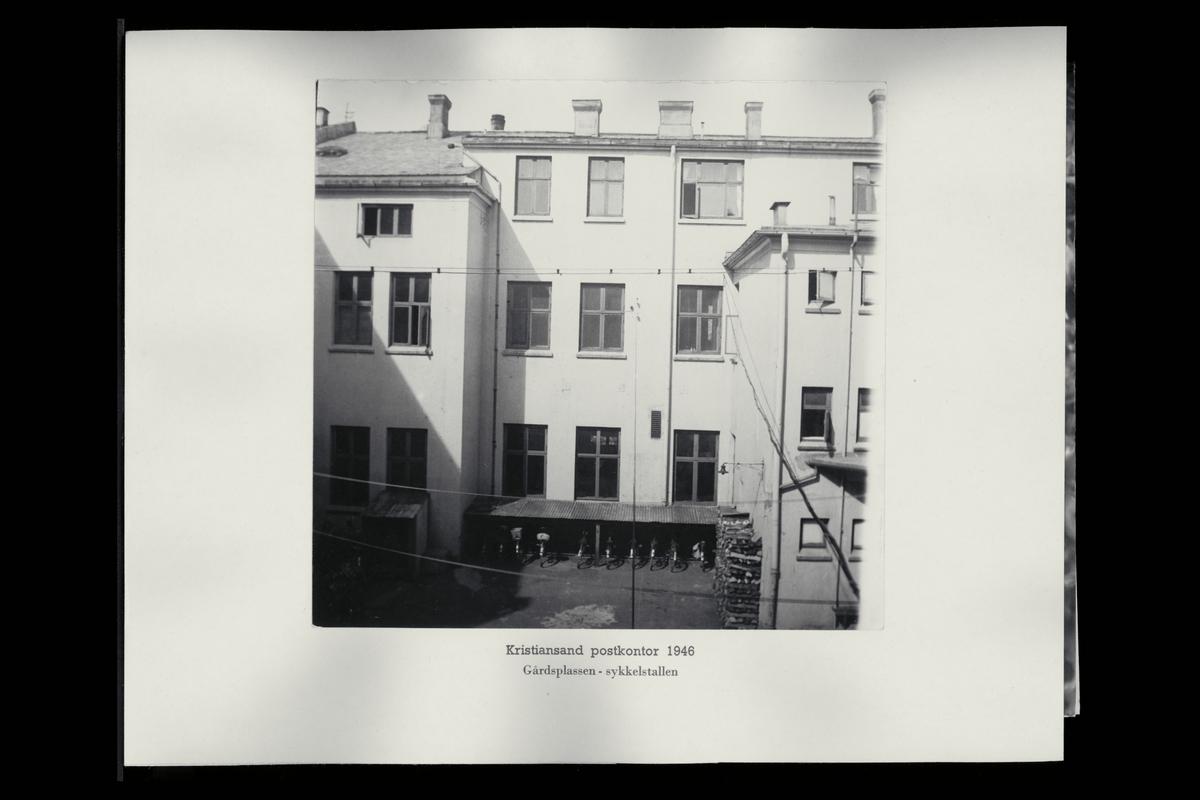 eksteriør, postkontor, 4604 Kristiandsand S, gårdsplass, sykkelstall