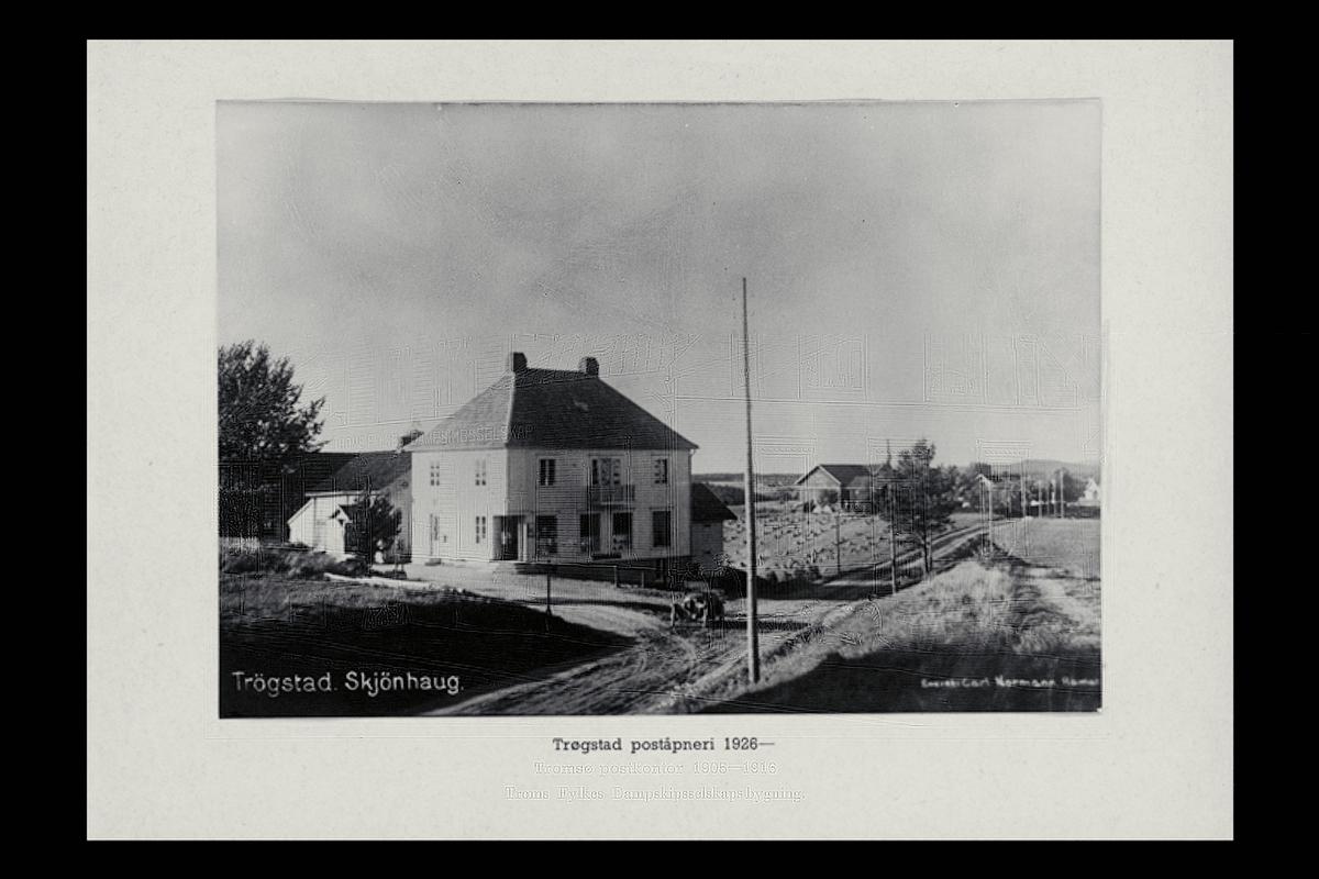 eksteriør, poståpneri, 1860 Trøgstad