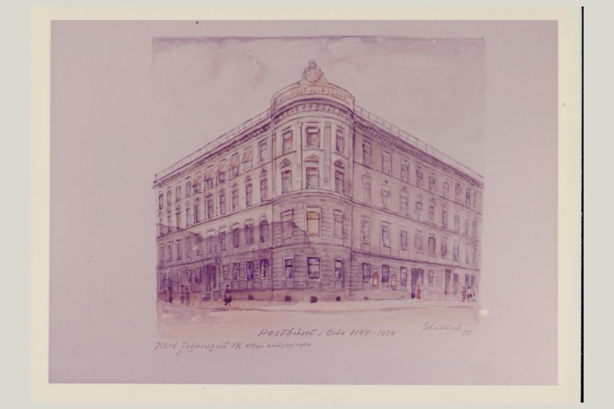 eksteriør, postkontor, Oslo Karl Johansgate 14
