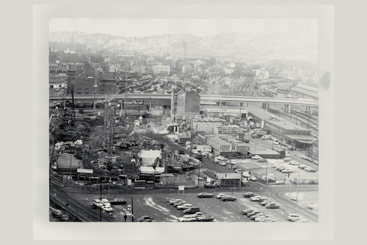 eksteriør, postterminal, Oslo, Postgiro, byggeprosess, 24.11.1972