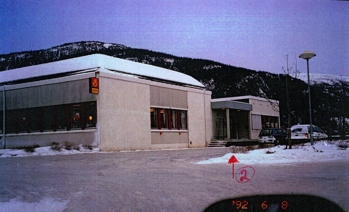 eksteriør, postkontor, 7870 Grong, postskilt