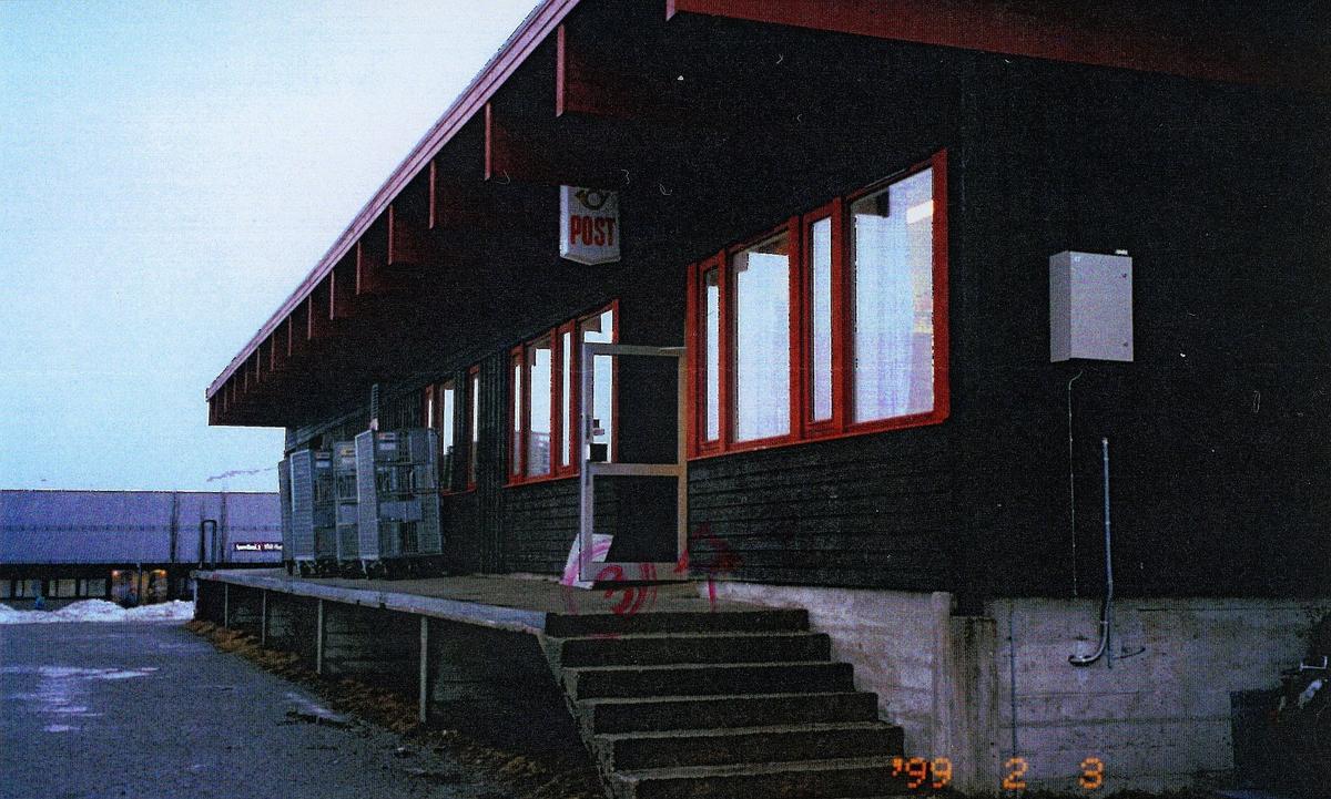 eksteriør, postkontor, 7970 Kolvereid, postskilt