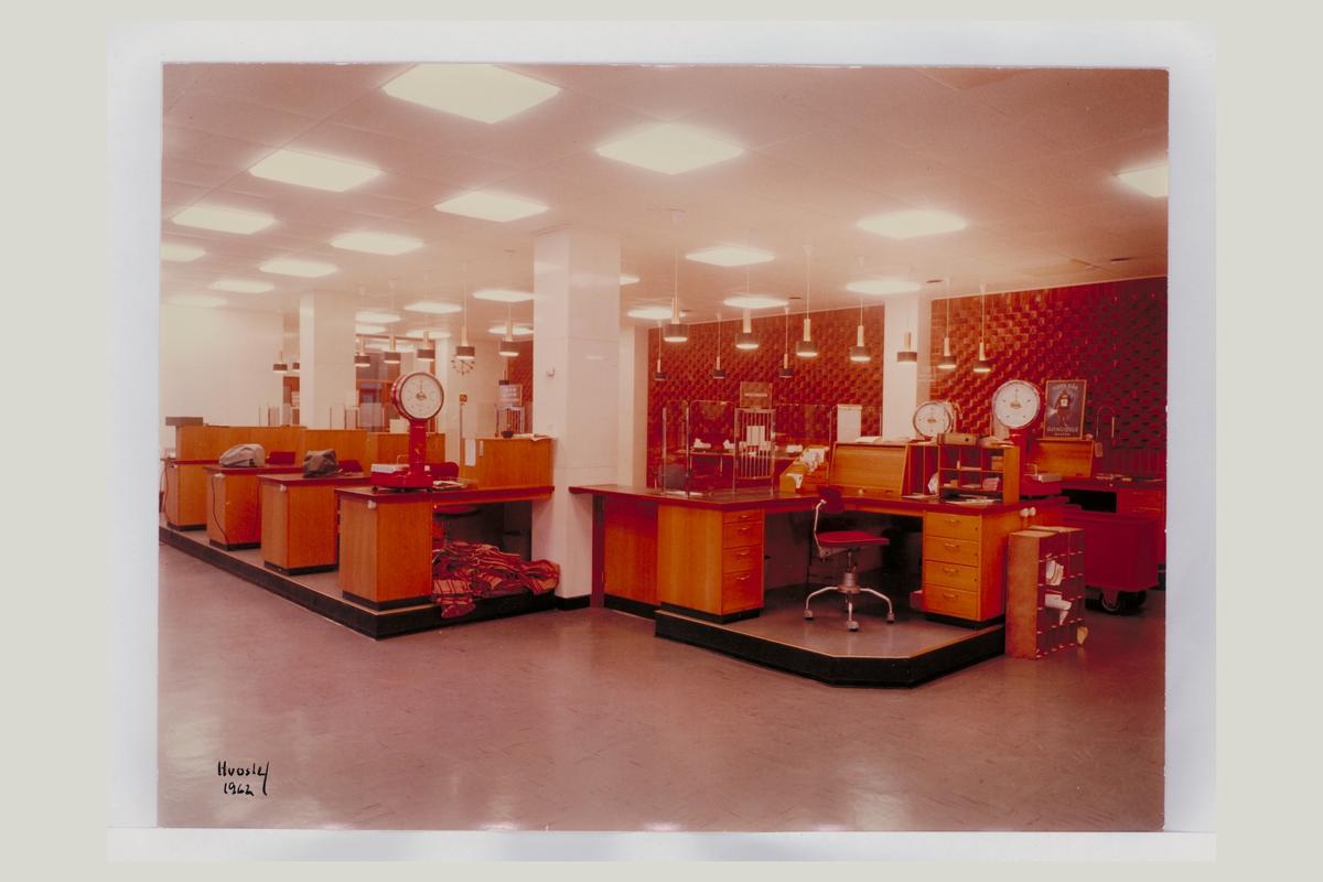 interiør, postkontor, 4800 Arendal, vekt