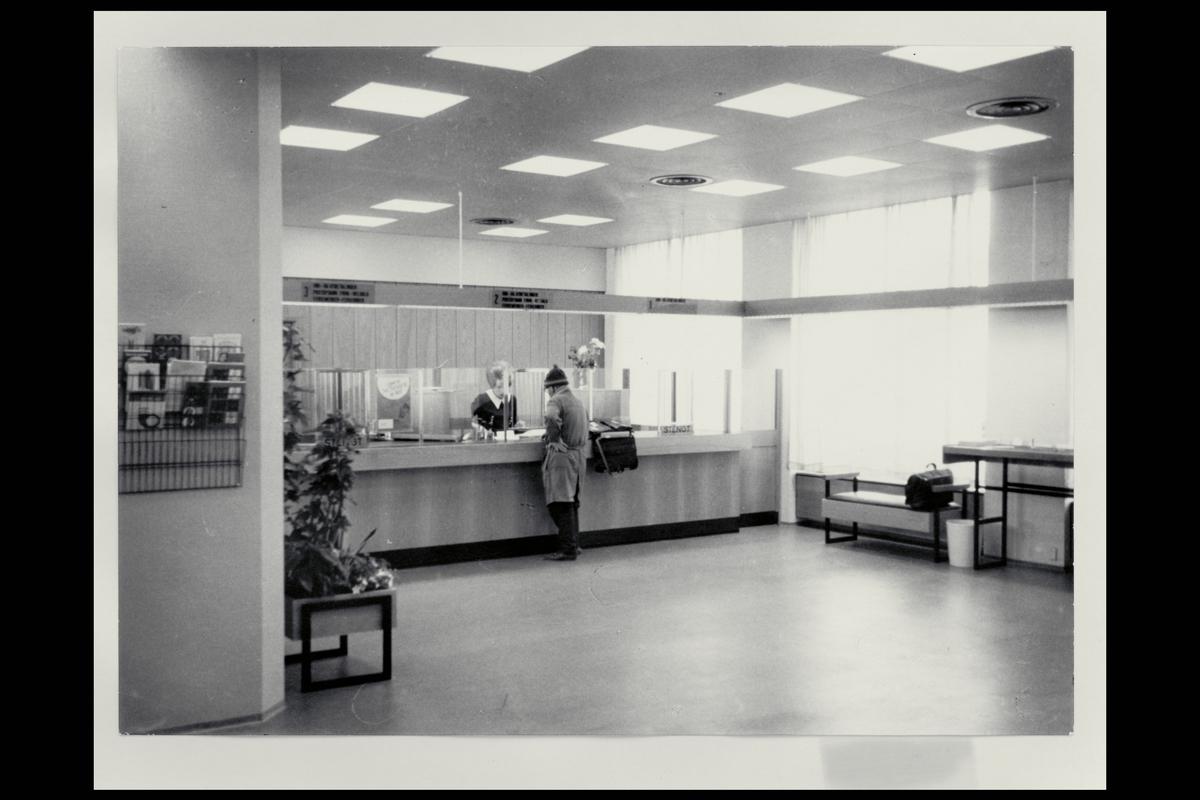 interiør, postkontor, 0134 Vaterland, publikumshall, ekspeditør, kunde