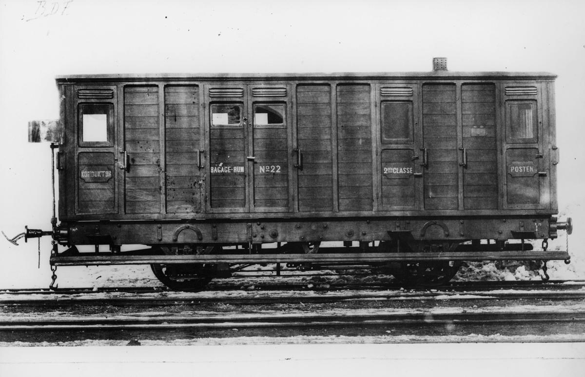transport, tog, eksteriør, Randsfjordbanen, postvogn
