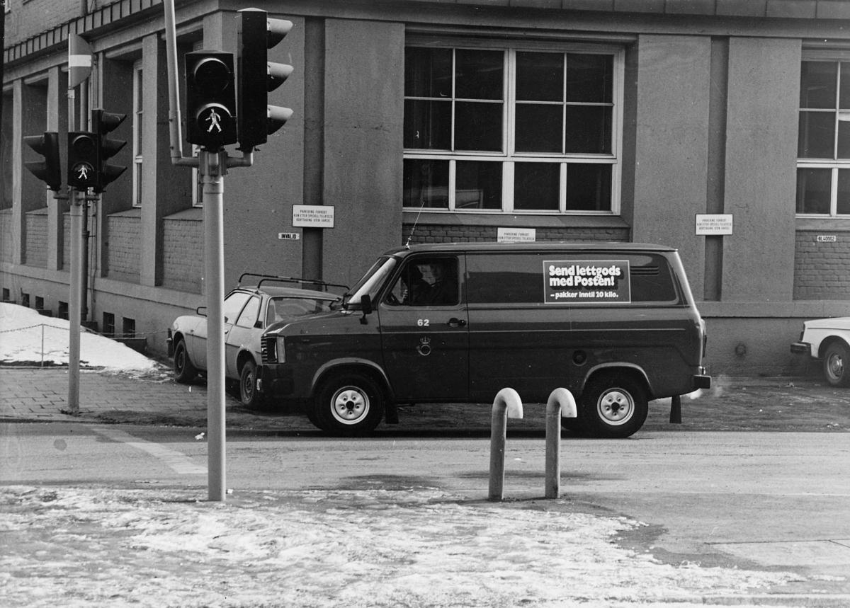 transport, bil, Ford med reklame for lettgods