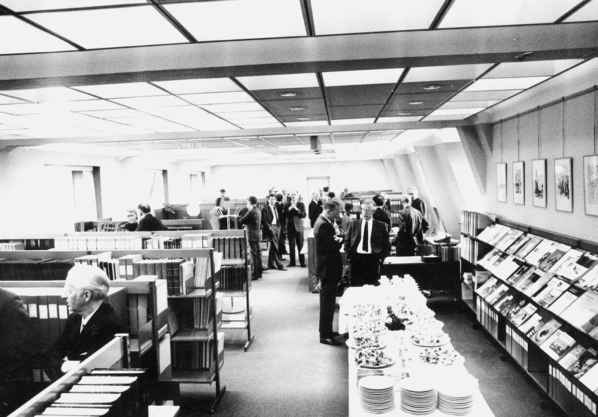 Postbiblioteket, åpning, interiør