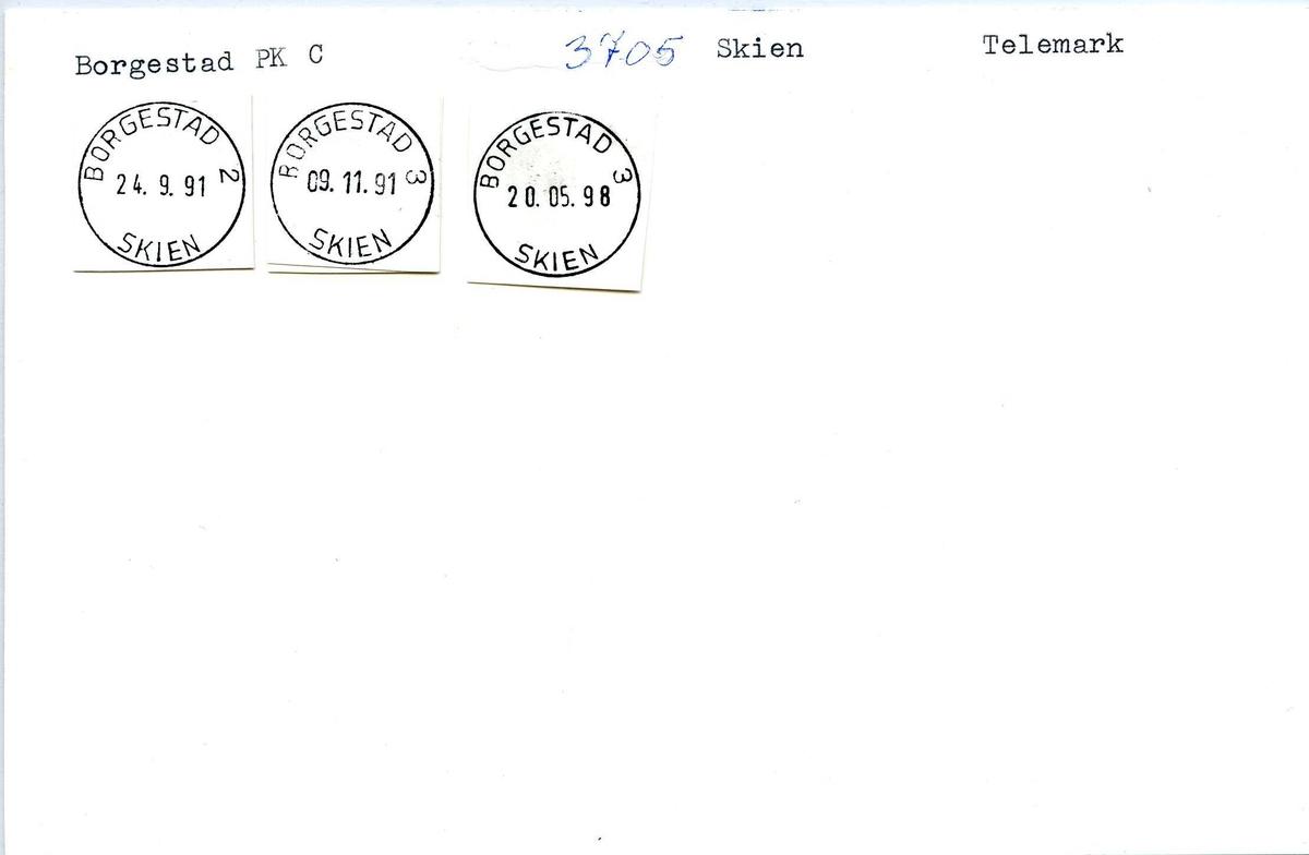Stempelkatalog, Borgestad, Skien, Telemark