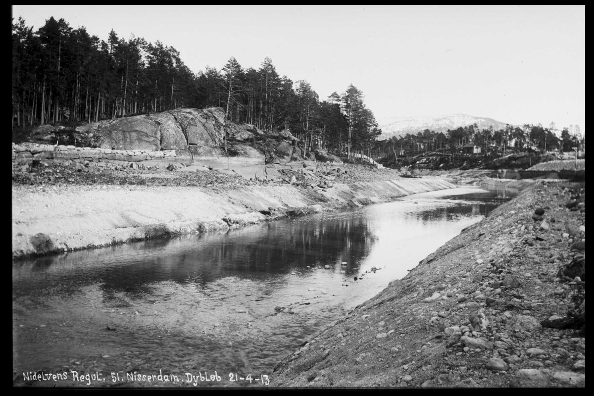 Arendal Fossekompani i begynnelsen av 1900-tallet CD merket 0474, Bilde: 46 Sted: Nisser Beskrivelse: Damanlegg