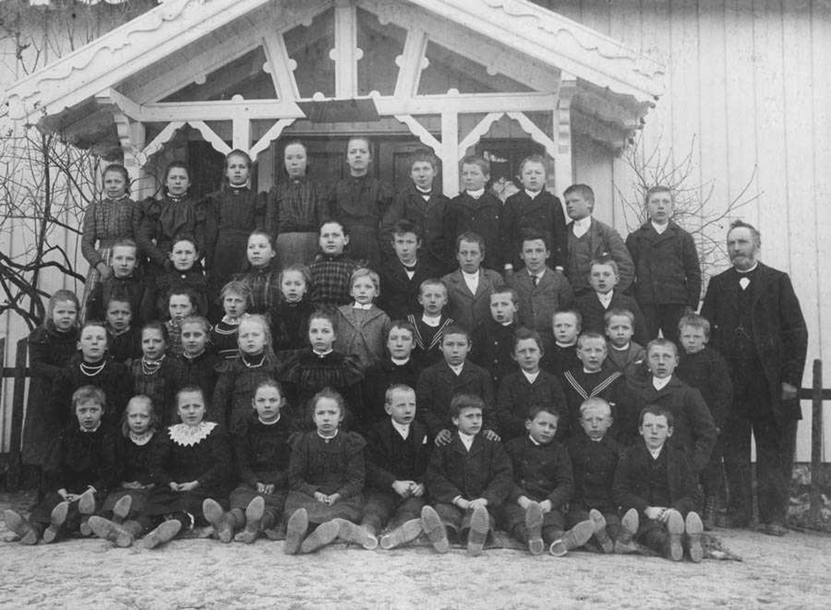 Bjerke skole, Ski. Gruppebilde.