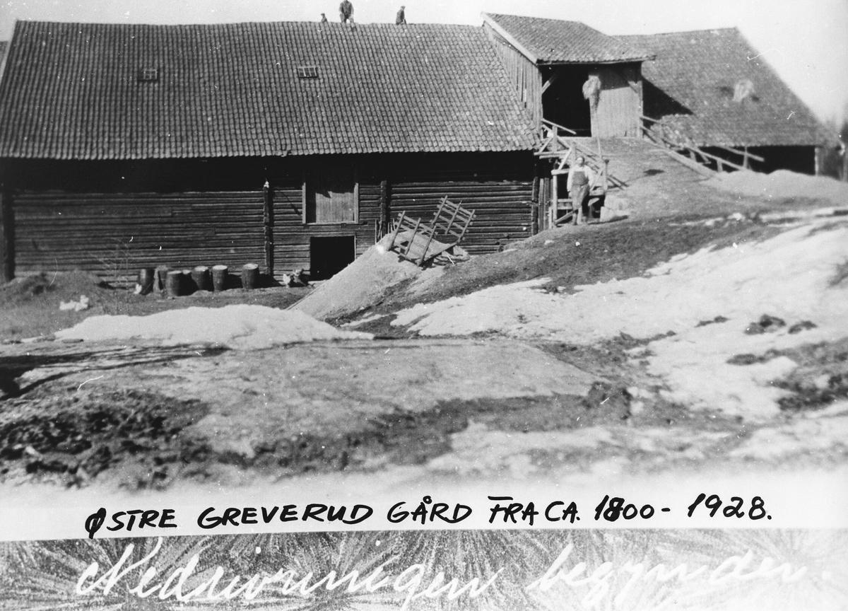 Østre Greverud Gård før om byggingen i 1928.