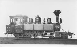 Leveransefoto av lok 3 Høland fra Baldwin Locomotive Works,