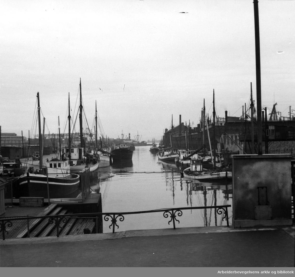 Akerselva ved Nyland, .september 1952