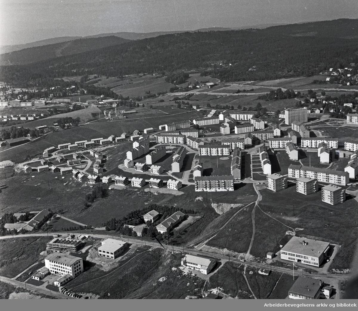 Flyfoto over Kalbakken,.september 1958