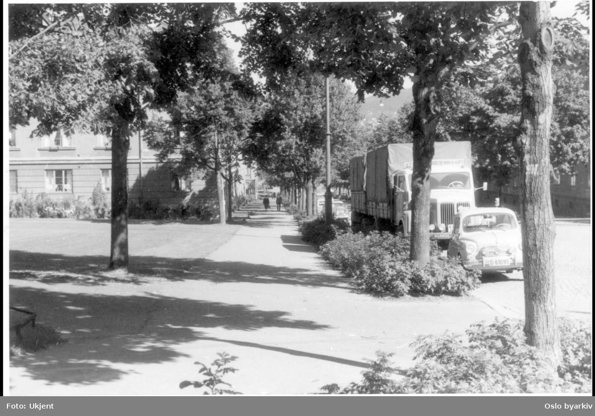 Colletts gate. Parkerte biler. Sannsynlig fra 1960-tallet.