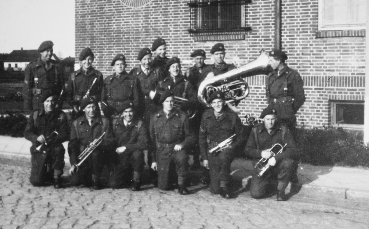 Musikkorps i Tysklandsbrigaden.