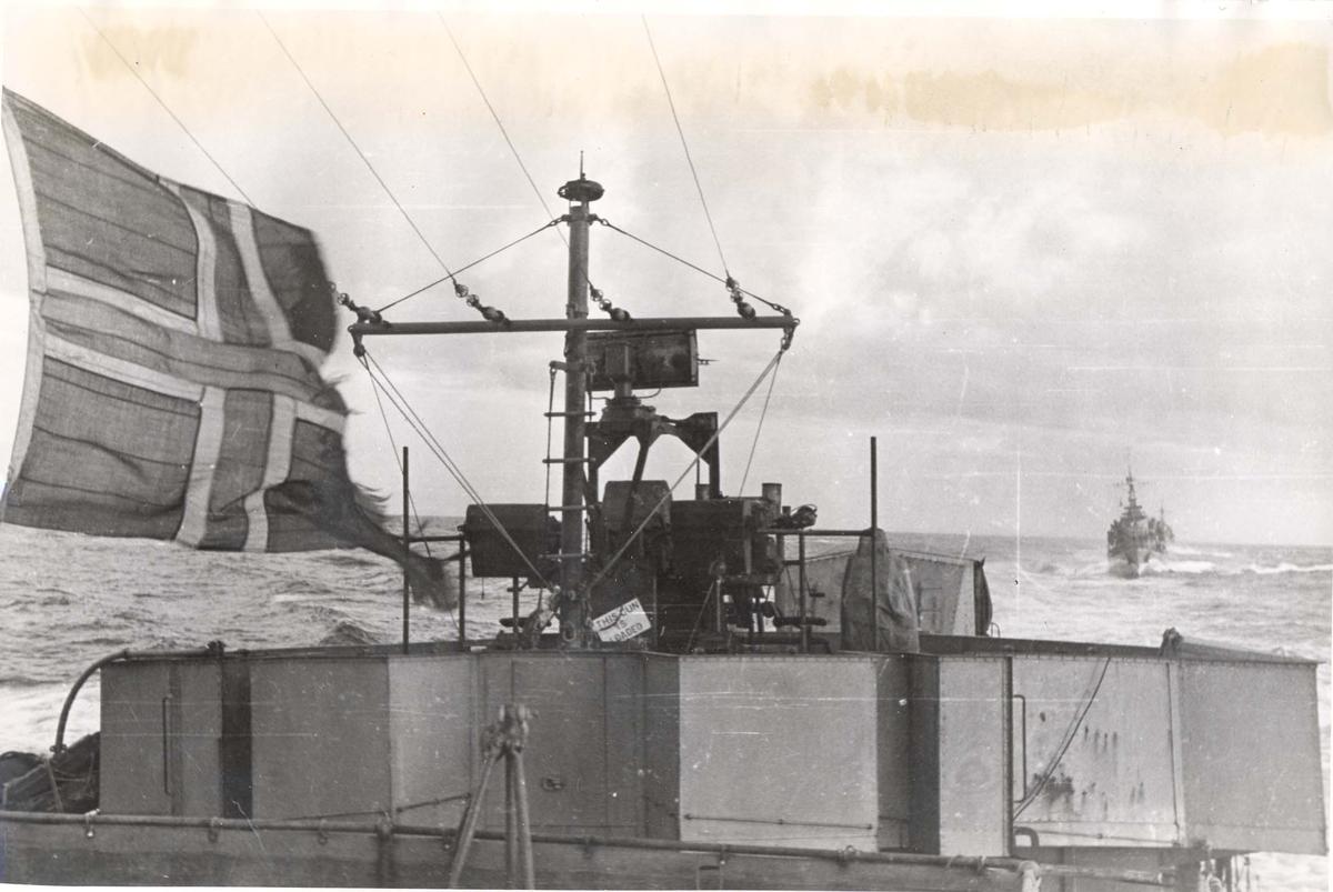 Enkeltbilde. Jageren Stord i konvoy til Murmansk vinteren 1943-44