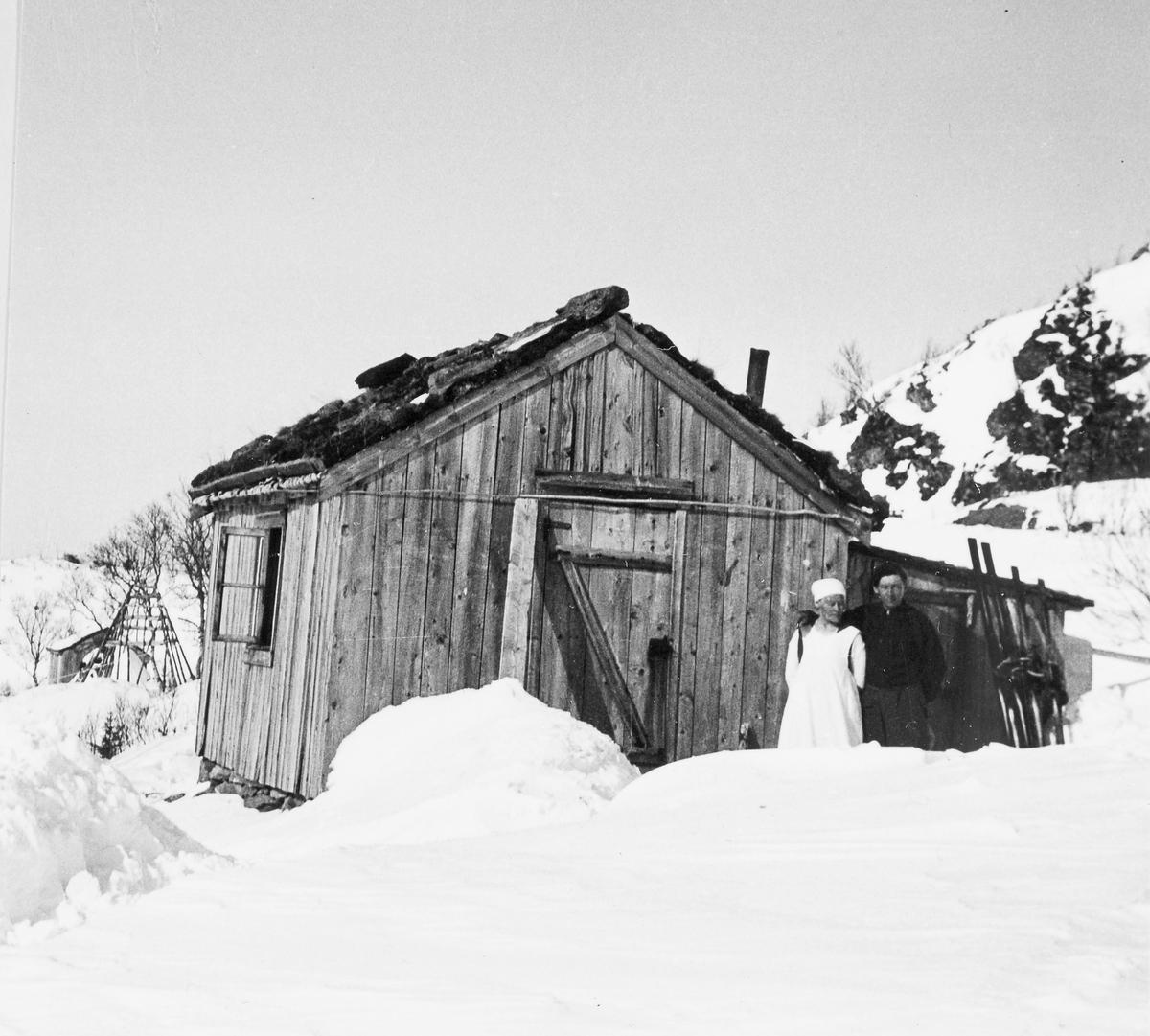 Samisk vinterbolig ved Langvatnet, Verrafjellene, Nord-Trøndelag