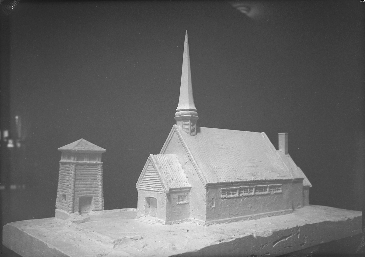 Modell av Kopperå kapell, ved arkitekt Roar Tønseth