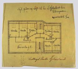 Bolig for byggmester Andreas Hjelmeland [utkast] [Plantegnin
