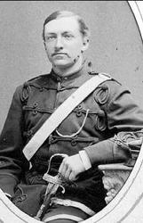 Porträtt av major Gustaf Adolf Nyblaeus