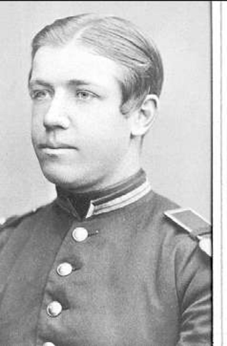 Porträtt av underlöjtnant Nils Georg Carl Axel Stedt