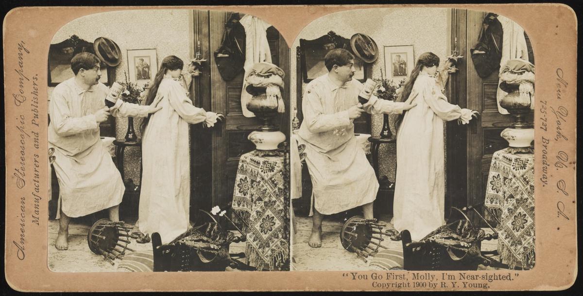 Stilstudie av bryllupsforderedelser og fest, USA rundt 1900