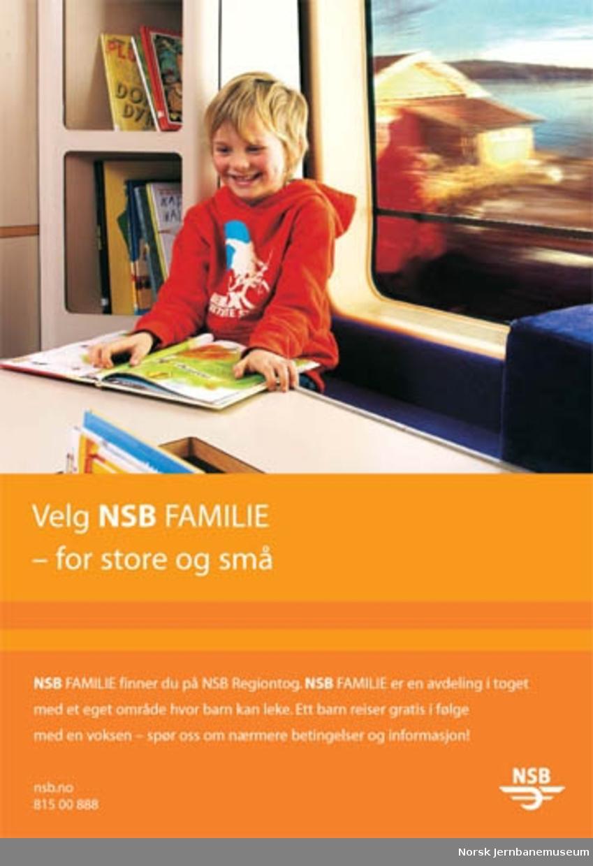 Reklameplakat : Velg NSB Familie - for store og små