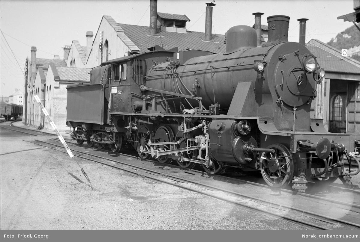 Damplokomotiv type 24b nr. 222 på Verkstedet Kronstad etter mellomrevisjon
